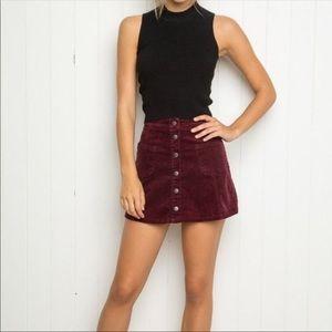 Brandy Melville EUC Sean Corduroy Skirt